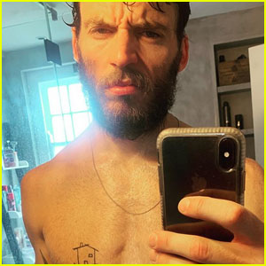 Sam Claflin Shows Off His Buff Bod in Sweaty Shirtless Selfie - See the Pic!
