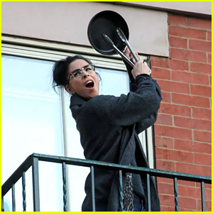Sarah Silverman Makes Noise for Healthcare Workers on Her NYC Balcony