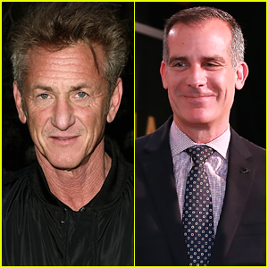 Sean Penn & LA Mayor Eric Garcetti Speak About Teaming Up For COVID-19 Testing Stations