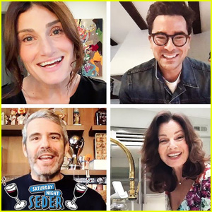 Dan Levy, Andy Cohen, Idina Menzel & Many More Stars Have a Virtual Saturday Night Passover Seder for Charity - Watch!