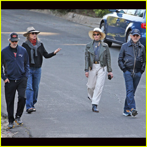 Steven Spielberg & Wife Kate Capshaw Join Michelle Pfeiffer & Husband David E. Kelley for a Walk Amid Pandemic