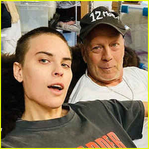 Tallulah Willis Poses in a 'Die Hard' Shirt With Her Dad Bruce Willis!