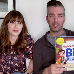 Zooey Deschanel Joins Boyfriend Jonathan Scott for Reading of His Children's Book - Watch!