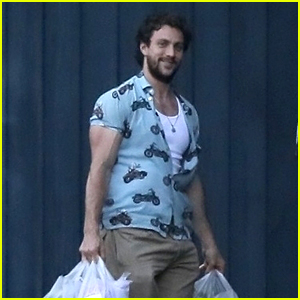 Aaron Taylor-Johnson's Shirt Can Barely Contain His Biceps!