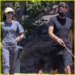 Alessandra Ambrosio & Boyfriend Nicolo Oddi Take Their Dogs for a Walk