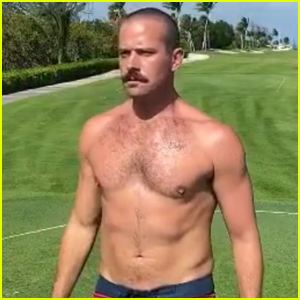 Armie Hammer Goes Shirtless at the Golf Course While the 'World is Ending'