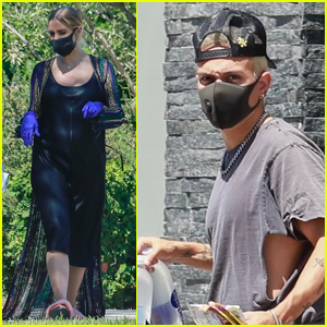 Ashlee Simpson & Evan Ross Wear Masks & Gloves While House Hunting