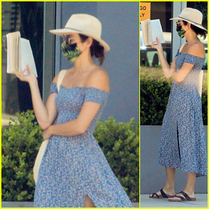 Twilight's Ashley Greene Reads a Book in Line While Grocery Shopping Amid Quarantine