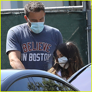 Ben Affleck & Ana De Armas Head Back Home After Sunday Errands