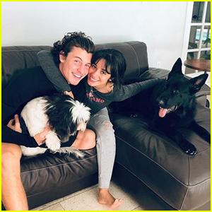 Camila Cabello Shares Cute Photo with Shawn Mendes & Her Dogs!