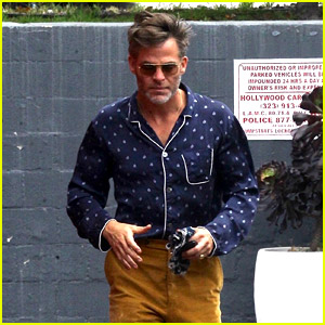 Chris Pine Shows Off His Cool Style While Running an Errand