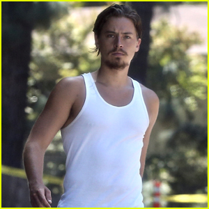 Cole Sprouse Goes for a Walk After His Workout!