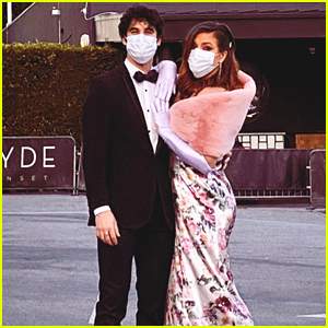 Darren Criss & Wife Mia Get Dressed Up to Visit 'Hollywood' Billboards on Release Day