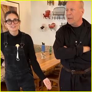 Bruce Willis & Ex Demi Moore Dance Their Way Through Quarantine