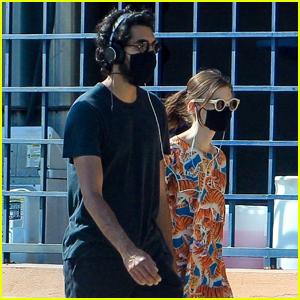 Dev Patel & Girlfriend Tilda Cobham-Hervey Wear Protective Masks on Afternoon Stroll
