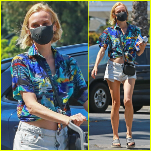 Diane Kruger Bares Her Midriff During Trip to Grocery Store