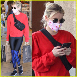 Emma Roberts Steps Out to Stock Up on Groceries for the Week