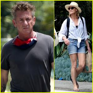 Exes Sean Penn & Robin Wright Enjoy Family Beach Day
