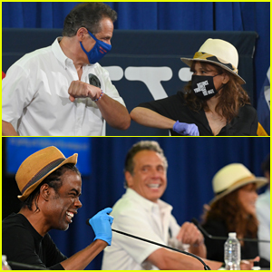 Governor Andrew Cuomo Brings Chris Rock & Rosie Perez to His Press Conference to Promote Masks & Tests