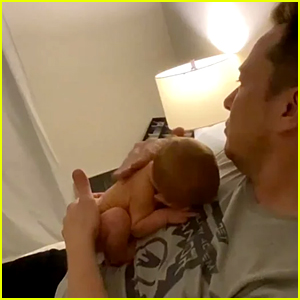 Grimes Shares Cute Video of Elon Musk Cuddling with Baby X Æ A-12