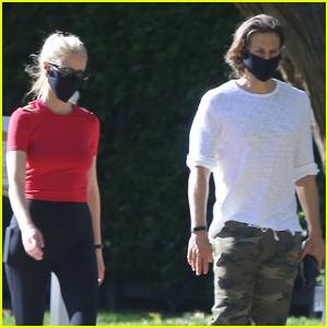 Gwyneth Paltrow & Brad Falchuk Go for Walk Around the Block