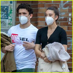 Money Heist's Jaime Lorente & Maria Pedraza Go for Masked Stroll in Madrid!