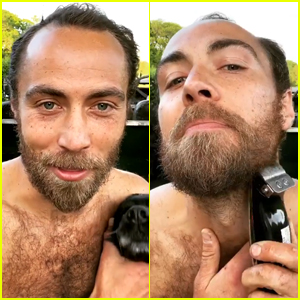 Kate Middleton's Brother James Shaves His Beard While Shirtless on Camera