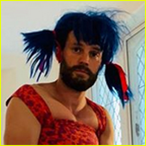 Jamie Dornan Dresses Up With His Daughters - See His New Look!