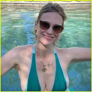 January Jones Posts a Bikini Photo to Wish Her Mom a Happy Birthday