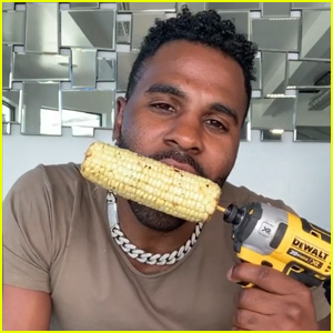 Jason Derulo Appears to Chip His Teeth Eating Corn With a Power Drill on TikTok - Watch (Video)