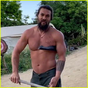 Jason Momoa Gifts Fans With This Video of Him Throwing Tomahawks While Shirtless