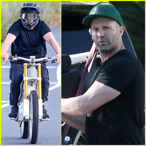 Jason Statham Heads Out for a Ride on His Electric Bike