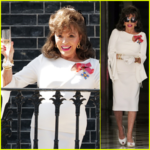 Joan Collins Toasts to VE Day on Her Balcony Amid Pandemic