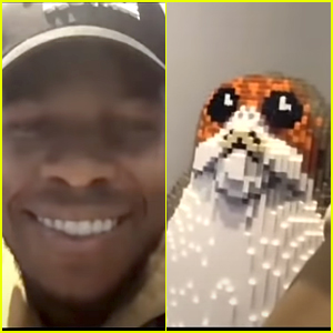 John Boyega Shows Off His 'Star Wars' Memorabilia & Life Size Porg & Reflects On The Franchise In 'Star Wars Day' Interview