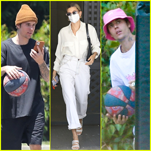 Justin Bieber Continues His Basketball Games in Quarantine While Hailey Gets to Business