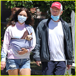Katharine McPhee Goes For a Walk with Husband David Foster