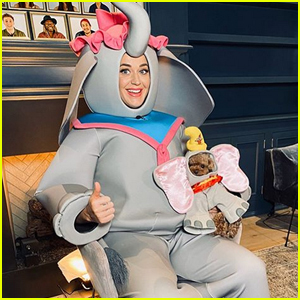 Katy Perry & Dog Nugget Dress Up as 'Dumbo' Characters for 'Baby Mine' Performance on Disney Family Singalong: Vol 2 - Watch!
