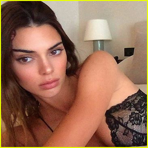 Kendall Jenner Poses in Sexy Lingerie Selfie & Her Sister Kylie Jenner Reacts!