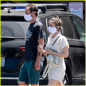 Lily Collins & Boyfriend Charlie McDowell Head to the Market & Visit Family Amid Quarantine