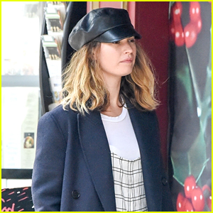Lily James Waits In Line For The Market After Spending Time With Matt Smith Over The Weekend