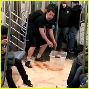 MTA Slams TikTok Comedian Josh Popkin After He Dumped Milk & Cereal on Subway Car