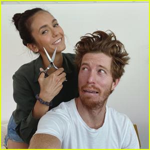 Nina Dobrev Gives Boyfriend Shaun White a Haircut In Couple's Instagram Debut!