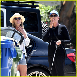 Robin Wright & Jamie Lee Curtis Bump Into Each Other While Running Errands in LA