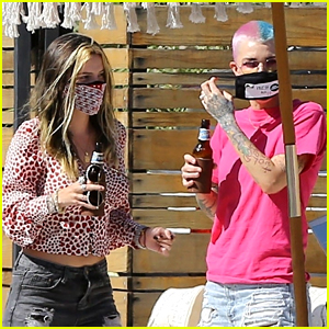 Ruby Rose & Bella Thorne Attend a Drive-By Birthday Party Together