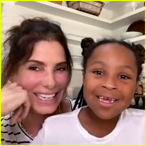 Sandra Bullock's Daughter Laila Joins Her to Thank a Nurse Ahead of Mother's Day