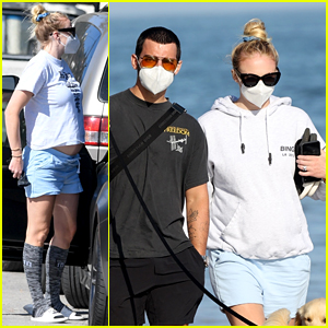 Sophie Turner & Joe Jonas Enjoy a Sunny Day at the Beach Together