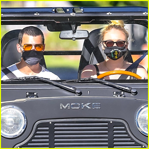 Sophie Turner Goes for a Drive with Joe Jonas in Their Moke!