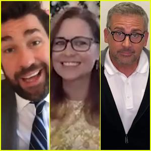 John Krasinski & 'The Office' Co-Stars Recreate Show's Wedding Dance for Newlywed Fans - Watch!