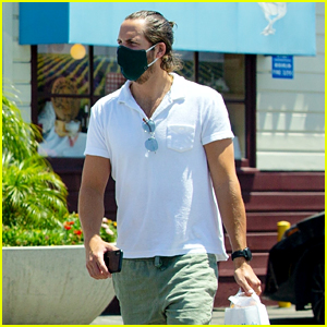 Margot Robbie's Husband Tom Ackerley Shops at the Farmer's Market with a Friend