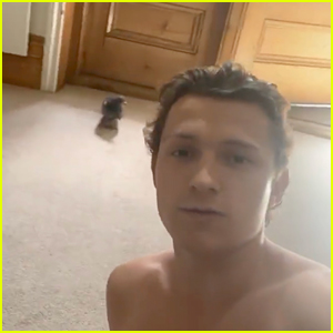 A Pigeon Flew Into Tom Holland's Home & He Made a 'Spies In Disguise' Joke!